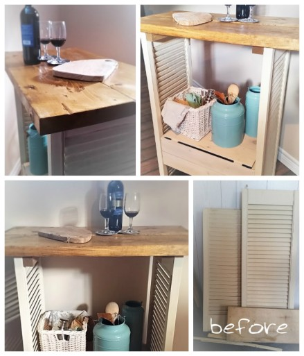 DIY upcycled kitchen cart